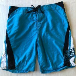 O'Neill swim board shorts size 36 Teal/Black